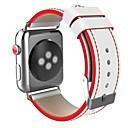Недорогие Косметика и уход за ногтями-Нержавеющая сталь Ремешок для часов Ремень для Apple Watch Series 3 / 2 / 1 Черный / Красный 23см / 9 дюйма 2.1cm / 0.83 дюймы