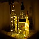 hesapli Yenilikçi LED Işıklar-BRELONG® 1pc Şarap Şişesi Stoperi Gece aydınlatması LED Sıcak Beyaz / Beyaz / Kırmızı Düğme Pil Powered Yaratıcı / Düğün / Modellendirme <5 V