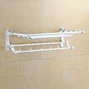 billige Badeværelsesartikler-Håndklædestang Nyt Design Moderne Aluminium 1pc Dobbelt Vægmonteret