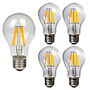 cheap LED Filament Bulbs-5pcs 8W 760lm E26 / E27 LED Filament Bulbs A60(A19) 8 LED Beads COB Decorative Warm White Cold White 220-240V