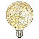 olcso LED gömbbúrás izzók-1db 3 W 200-300 lm E26 / E27 Izzószálas LED lámpák G95 33 LED gyöngyök SMD Dekoratív / Csillagos Meleg fehér 85-265 V