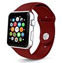 halpa Kellohihnat-silikageeli Watch Band Hihna varten Apple Watch Series 3 / 2 / 1 Valkoinen / Oranssi / Harmaa 23cm / 9 Tuumaa 2.1cm / 0.83 tuumaa