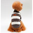 voordelige Hondenkleding & -accessoires-Honden Katten Sweatshirt Hondenkleding Gestreept Blauw Roze Zwart 100% coral fleece Kostuum Voor Mopshond Bichon Frise Schnauzer Lente Herfst Unisex Sport & Buiten Casual / Dagelijks
