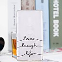 cheap iPhone Cases-Case For Sony Xperia XZ2 Compact / Xperia XZ2 Transparent / Pattern Back Cover Word / Phrase Soft TPU for Huawei P20 / Huawei P20 Pro / Huawei P20 lite