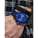 preiswerte Lautsprecher-Herrn Sportuhr Quartz Chronograph Armbanduhren für den Alltag Cool Stoff Band Analog Retro Modisch Schwarz / Blau / Grün - Schwarz Grün Blau Ein Jahr Batterielebensdauer