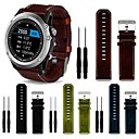 cheap Watch Bands for Garmin-Watch Band for Fenix 3 Garmin Leather Loop Leather / Genuine Leather Wrist Strap