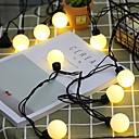 رخيصةأون أضواء شريط LED-5m أضواء سلسلة 20 المصابيح أبيض دافئ ديكور 220-240 V 1SET