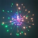 رخيصةأون اكسسوارات الرياضة-HKV 0.2M أضواء سلسلة 120 المصابيح مصلحة الارصاد الجوية 0603 1 13Keys المراقب البعيد أبيض دافئ / RGB + الدافئة ضد الماء / حزب / ديكور بطاريات آ بالطاقة 1SET
