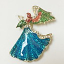 cheap Brooches-Women's 3D Brooches - Angel Artistic, Simple Brooch Gold For Festival