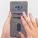 baratos Áudio e Vídeo-Capinha Para Samsung Galaxy Note 9 / NNote 8 Porta-Cartão / Áspero Capa traseira Sólido Macia PU Leather para Note 9 / Note 8
