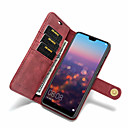 cheap Cases / Covers for Huawei-Case For Huawei P20 Pro / P20 lite Card Holder / Shockproof / Flip Full Body Cases Solid Colored Hard PU Leather for Huawei P20 / Huawei P20 Pro / Huawei P20 lite