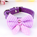 cheap Dog Clothing & Accessories-Dogs Cats Collar Ornaments Tie / Bow Tie Bow Tie With Bell For Dog / Cat Polka Dot Flower / Floral Bowknot PU Leather Fuchsia Red Blue