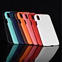 baratos Capinhas para iPhone-Capinha Para Apple iPhone XR / iPhone XS Max Áspero Capa traseira Sólido Rígida PU Leather para iPhone XS / iPhone XR / iPhone XS Max