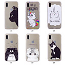 abordables Coques d'iPhone-Coque Pour Apple iPhone XS / iPhone XS Max Motif Coque Chat Flexible TPU pour iPhone XS / iPhone XR / iPhone XS Max