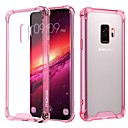 cheap Galaxy S Series Cases / Covers-Case For Samsung Galaxy S9 / S8 Shockproof / Transparent Back Cover Solid Colored Soft TPU / Acrylic for S9 / S9 Plus / S8 Plus