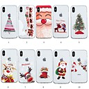 baratos Capinhas para iPhone-Capinha Para Apple iPhone XR / iPhone XS Max Estampada Capa traseira Natal Macia TPU para iPhone XS / iPhone XR / iPhone XS Max