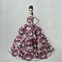 preiswerte Puppen und Stofftiere-Niedlich Kleid Für Barbie-Puppe Polyester Kleid Für Mädchen Puppe Spielzeug