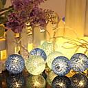 رخيصةأون مستلزمات وأغراض العناية بالكلاب-1.2M أضواء سلسلة 10 المصابيح أزرق ديكور بطاريات آ بالطاقة 1SET