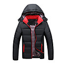 cheap Dog Clothing & Accessories-Men's Daily Basic Solid Colored Plus Size Regular Padded, Polyester Long Sleeve Winter Hooded Blue / Black / Red XXXL / XXXXL / XXXXXL