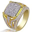 preiswerte Ringe-Herrn Kubikzirkonia Klassisch Ring - Stilvoll, Luxus 7 / 8 / 9 / 10 / 11 Gold Für Party Geschenk