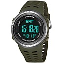 Χαμηλού Κόστους Ανδρικά ρολόγια-Ανδρικά Αθλητικό Ρολόι Ψηφιακό ρολόι Ιαπωνικά Ψηφιακό σιλικόνη Μαύρο / Πράσινο 30 m Ανθεκτικό στο Νερό Ημερολόγιο Διπλές Ζώνες Ώρας Ψηφιακό Μοντέρνα - Μαύρο Πράσινο / Χρονόμετρο / Νυχτερινή λάμψη