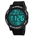 رخيصةأون Switches-رجالي ساعة رياضية ساعة رقمية ياباني رقمي المتضخم سيليكون أسود 30 m مقاوم للماء المنبه رزنامه رقمي موضة - أسود أسود / أبيض / الكرونوغراف / ساعة التوقف / قضية