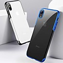cheap iPhone Cases-Case For Apple iPhone XR / iPhone XS Max Shockproof / Plating / Ultra-thin Back Cover Solid Colored Soft TPU for iPhone XS / iPhone XR / iPhone XS Max