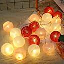 tanie Taśmy świetlne LED-2 m Łańcuchy świetlne 20 Diody LED Różowy Dekoracyjna Zasilanie bateriami AA 1 zestaw