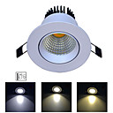 cheap LED Recessed Lights-1pc 7 W 400 lm 1 LED Beads Easy Install Tri-color LED Recessed Lights Change 85-265 V Home / Office Living Room / Dining Room