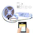 abordables Luces LED de Doble Pin-5 m Tiras LED Flexibles / Sets de Luces / Luces inteligentes 300 LED SMD5050 1 cable de CA / Adaptador de corriente 1 x 2A RGB Impermeable / Control APP / Cortable 100-240 V 1 juego