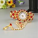 저렴한 양말-FEIS 여성용 팔찌 시계 석영 골드 크로노그래프 아날로그-디지털 숙녀 패션 - 레드