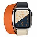 abordables Focos LED-Ver Banda para Apple Watch Series 4/3/2/1 Apple Correa de Cuero Piel / Cuero Auténtico Correa de Muñeca