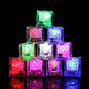 hesapli LED Gereçler-12 adet diy renkli flaş led buz küpleri düğün festivali dekor parti sahne işıltılı led parlayan indüksiyon buz cubeschristmas yeni yıl bar