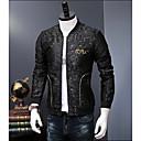 رخيصةأون كنزات هودي رجالي-رجالي مناسب للبس اليومي خريف & شتاء قياس كبير عادية جاكيت, ألوان متناوبة مرتفعة كم طويل بوليستر أسود