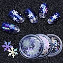 cheap Makeup & Nail Care-6 pcs Multi Function / Best Quality Eco-friendly Material Nail Jewelry Sequins For Christmas nail art Manicure Pedicure Christmas / Festival Trendy / Fashion