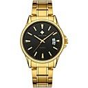 זול שעוני גברים-WWOOR בגדי ריקוד גברים שעוני שמלה שעון יד Japanese קוורץ יפני מתכת אל חלד זהב 30 m עמיד במים לוח שנה מגניב אנלוגי קלסי אופנתי - שחור וזהב מוזהב
