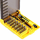 cheap Stacking Blocks-6089A 45 in 1 Interchangeable Screwdriver Tool Set Professional Phone/PC/Camera Repair Tools with Tweezer Hard Extension Shaft