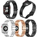 رخيصةأون حالة سامسونج اللوحي-حزام إلى Apple Watch Series 4/3/2/1 Apple عصابة الرياضة / تصميم المجوهرات ستانلس ستيل شريط المعصم