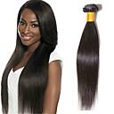 hesapli Makyaj ve Tırnak Bakımı-3 Paket Düz Brezilya Saçı İri Dalgalı Peru Saçı Düz Virgin Saç İşlenmemiş Gerçek Saç Hediyelikler İnsan saç örgüleri Çay Partisi Hediyeleri 8-28 inç Doğal Renk İnsan saç örgüleri Kokusuz Sexy Lady