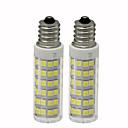 olcso LED kukorica izzók-2pcs 4.5 W 450 lm E12 LED kukorica izzók T 76 LED gyöngyök SMD 2835 Tompítható Meleg fehér / Hideg fehér 110 V