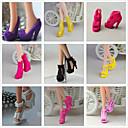 ieftine Haine Păpușă Barbie-Pantofi de papusa Princess Lolita Cute Stil 9 pcs Pentru Barbie Negru Fire sintetice Poliester PVC Încălțăminte Pentru Fata lui păpușă de jucărie