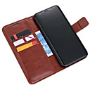 cheap Galaxy S Series Cases / Covers-ASLING Case For Samsung Galaxy S9 Plus / S9 Wallet / Card Holder / with Stand Full Body Cases Solid Colored Soft PU Leather for S9 / S9 Plus