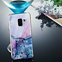 رخيصةأون أغطية أيفون-غطاء من أجل Samsung Galaxy A6 (2018) / A6+ (2018) / Galaxy A7(2018) IMD / نموذج غطاء خلفي حجر كريم ناعم TPU