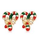 저렴한 귀걸이-여성용 클래식 귀걸이 귀걸이 숙녀 패션 보석류 레인보우 제품 크리스마스 일상 1 쌍