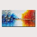 ieftine LED-uri-Hang-pictate pictură în ulei Pictat manual - Abstract Peisaj Modern Fără a cadru interior