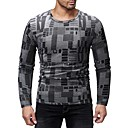 cheap Men's Tees & Tank Tops-Men's Basic T-shirt - Color Block / Graphic Print