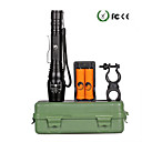 cheap Flashlights-U'King LED Flashlights / Torch 2000 lm LED LED Emitters 5 Mode with Batteries and Charger Zoomable Adjustable Focus Camping / Hiking / Caving Everyday Use Outdoor / Aluminum Alloy