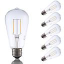 abordables Lampes à Filament LED-6pcs gmy st19 led edison ampoule 2w led équivalent à ampoule à incandescence 22w avec e26 base 2700k blanc chaud pour chambre salon home café décoratif