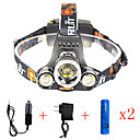 cheap Headlamps-Headlamps Safety Light Headlight LED Cree® XM-L2 Emitters 13000 lm 1 Mode with Batteries and Chargers Anglehead Suitable for Vehicles Super Light Camping / Hiking / Caving Everyday Use Cycling / Bike