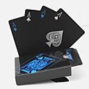 رخيصةأون ديكورات خشب-PVC لعبة البوكر للماء من البلاستيك لعب بطاقات مجموعة بطاقة سوداء مجموعات الكلاسيكية الحيل السحرية أداة ألعاب البوكر